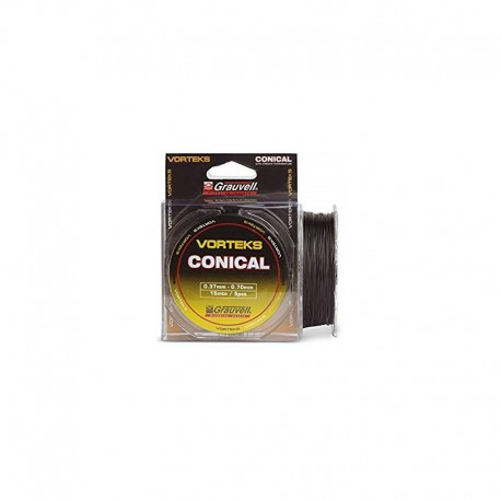 COLA DE RATA VORTEKS CONICAL 0.37MM-0.70MM 15M 5PCS GRAUVELL