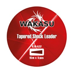 COLA DE RATA WAKASU TAPERED SHOCK LEADER ROJO