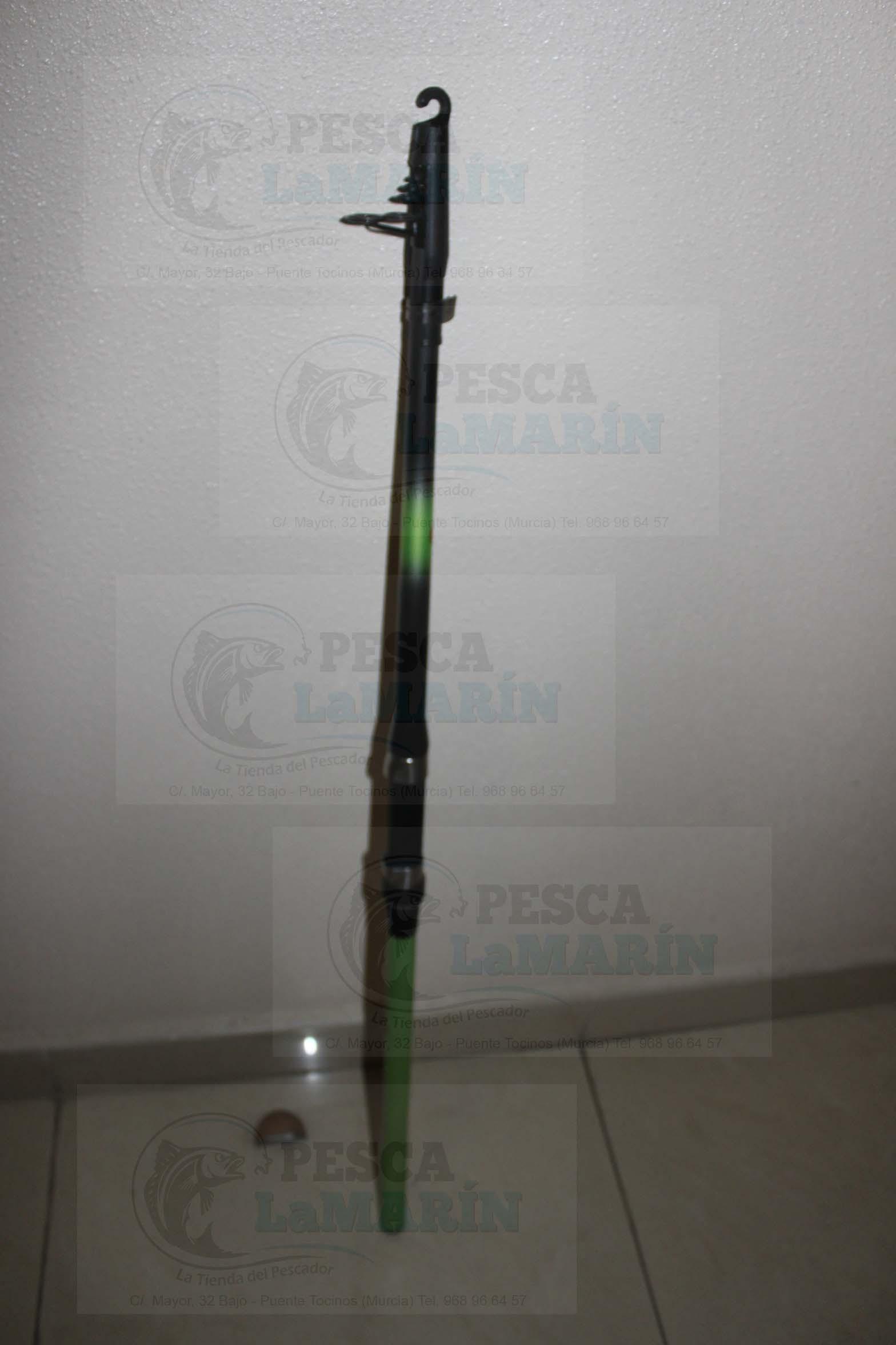Caña Telescopica Spinning Y Boya Carbono Roda 210 Y 240 Pesca Lamarin