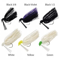 BASS JIG HEAD 1/2 OZ BLACK / PURPLE x TRAILER
